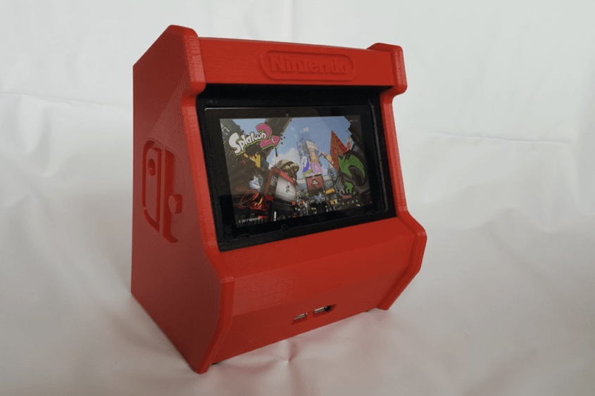 this 3d printed nintendo switch looks like a mini arcade image 1