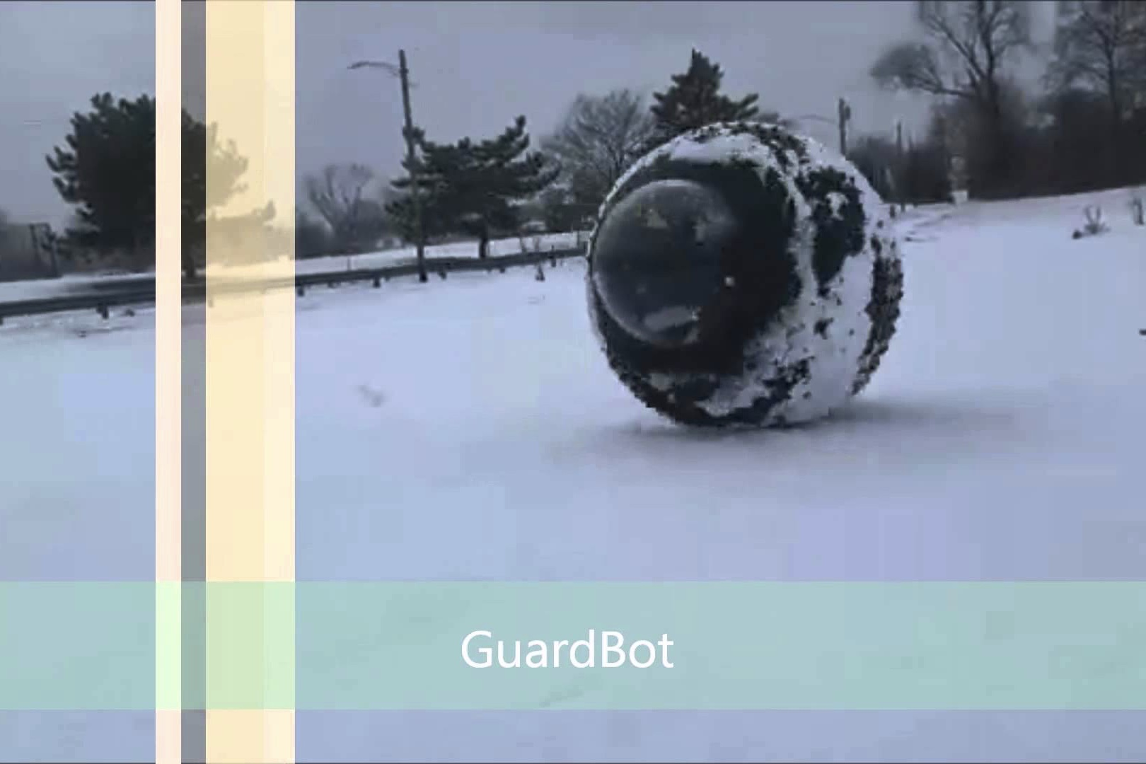 Watch Guardbot is a robot surveillance ball that can roll on any terrain video