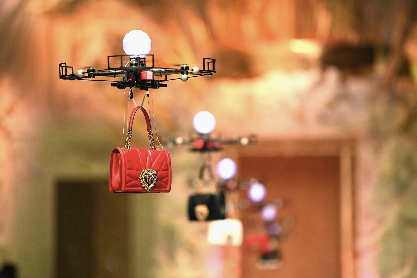 Video: Drones Carry Expensive Dolce & Gabbana Handbags On The Runway 1
