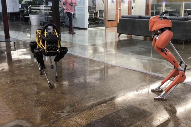 Two robots step onto the scene to start dancing 1