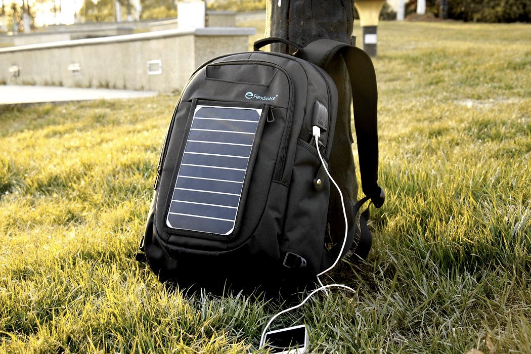 A Backpack With A Removable Solar Charger 1