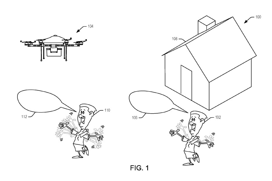 Amazon Gets Patent For Delivery Drones That Can Be Waved Down By Customers 3