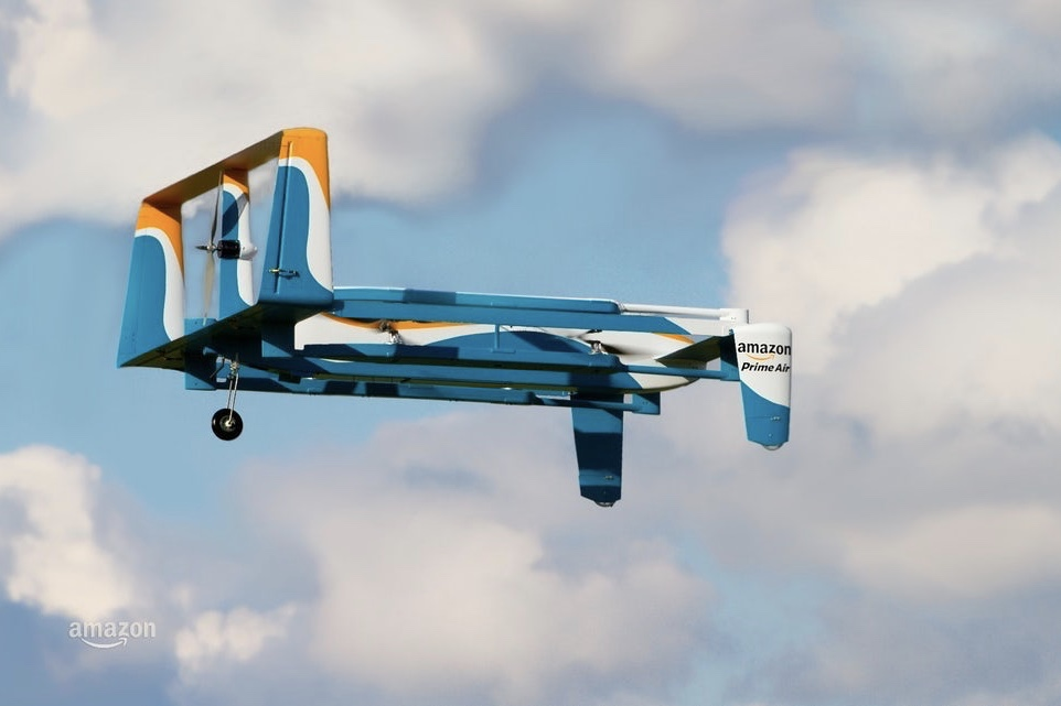 Amazon gets patent for delivery drones that can be waved down by customers 1