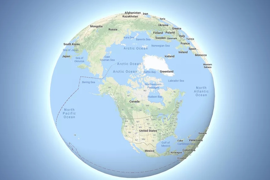 The Earth is now depicted as a globe on Google Maps 1