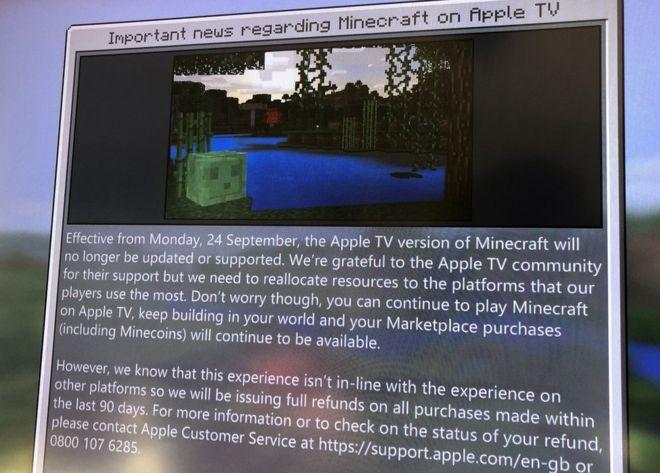 Minecraft Will No Longer Be On Apple TV 2