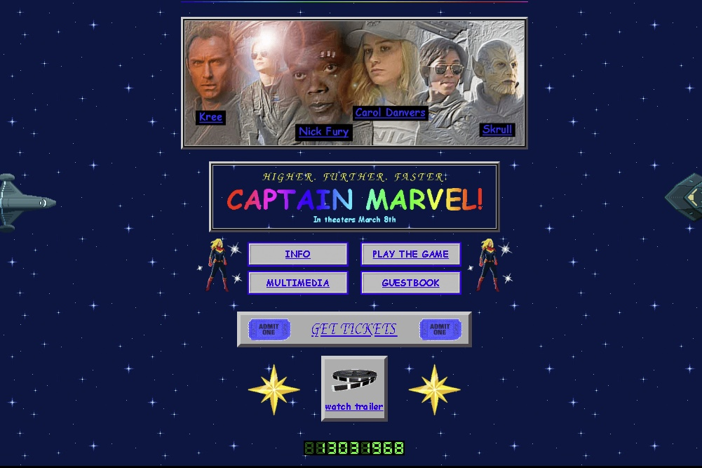 Captain Marvel's Website Is A Proper Throwback