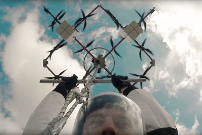 Video: Watch The First Skydive From A Flying Drone