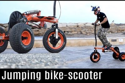 Video: How To Build Your Own Jumping Bike-scooter!