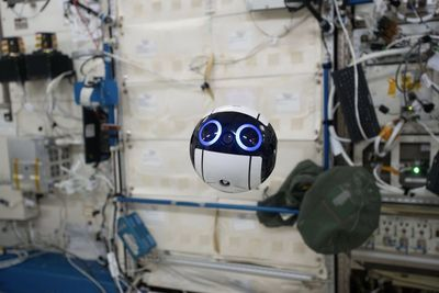 Floating Space Drone Offers A Window Into The Iss!