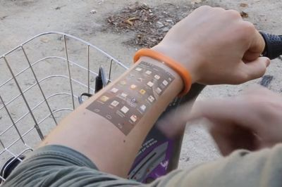 Video: This Bracelet Turns Your Skin Into Your Smartphone!