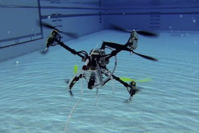 Video: A Drone That Travels Underwater And In The Air...