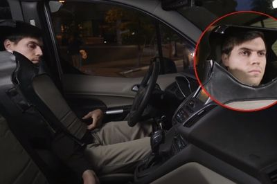 Video: Man Dresses As A Car-seat For Science...