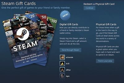 Digital Gift Cards Are Finally A Thing On Steam