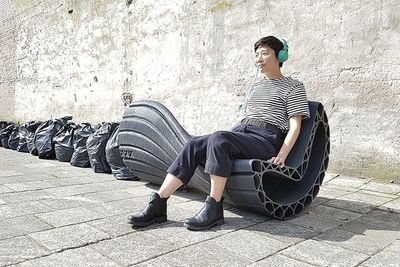3d-printed Plastic Bags Become Urban Furniture