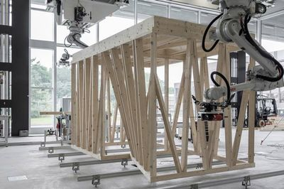 A Digitial Timber Constuction Robot By Eth Zurich