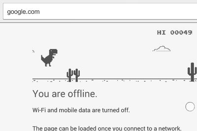 Google Chrome's Offline Dinosaur Game Has An Easter Egg