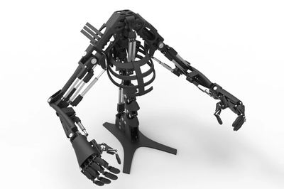 The Robot Dog Has A Pair Of 3D Printed Bionic Arms