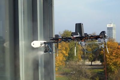 The First Heavy Lift Drone For High Altitude Cleaning
