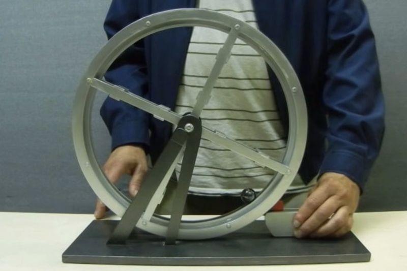 Video: The Magnet Perpetual Wheel: Free Energy Machine 1