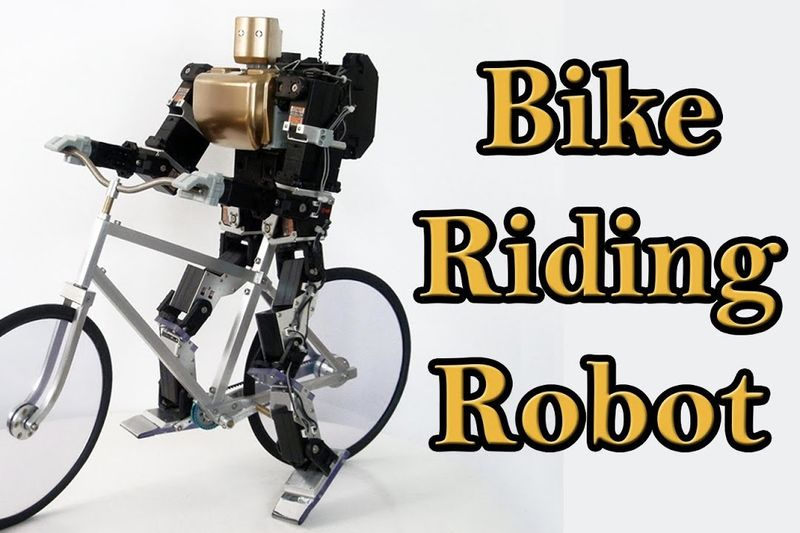Have You Seen This Robot That Can Ride A Bicycle... 1