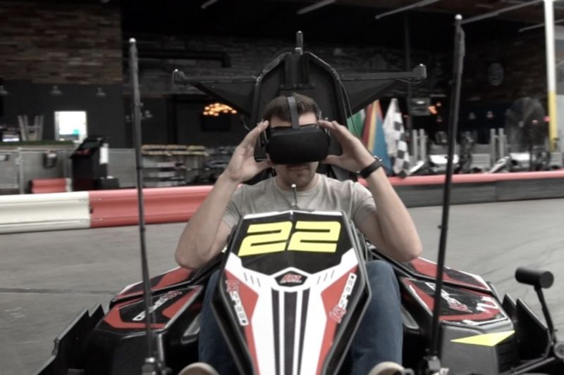 Imagine Racing In A Go Kart With VR Glasses 1